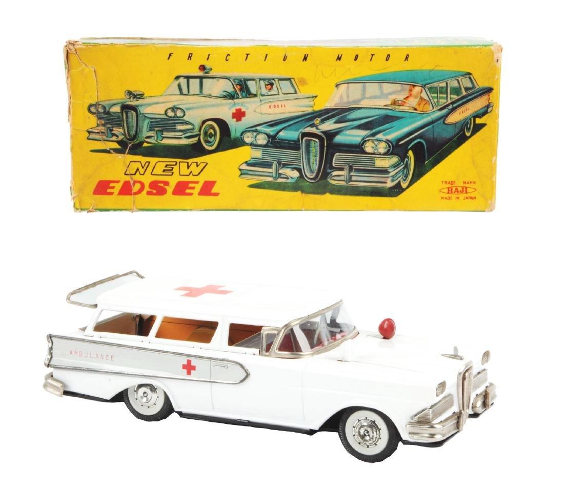 Very Rare Japanese Haji Tin Litho Friction Edsel