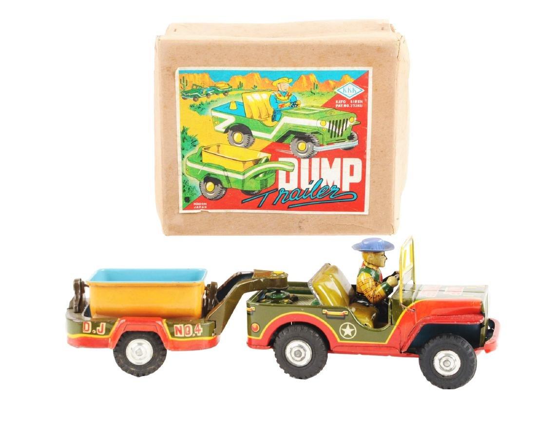 Scarce & Unusual Japanese Tin Litho Cowboy Dump