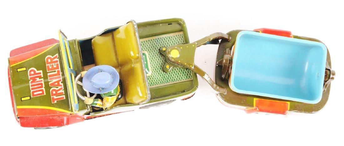 Scarce & Unusual Japanese Tin Litho Cowboy Dump - 3