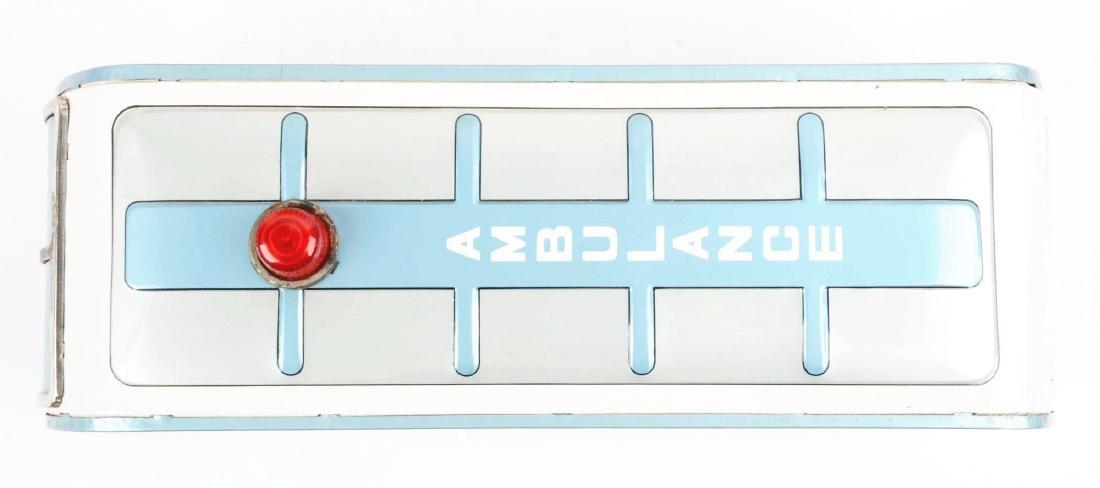 Japanese Tin Litho Friction Ambulance Toy. - 3