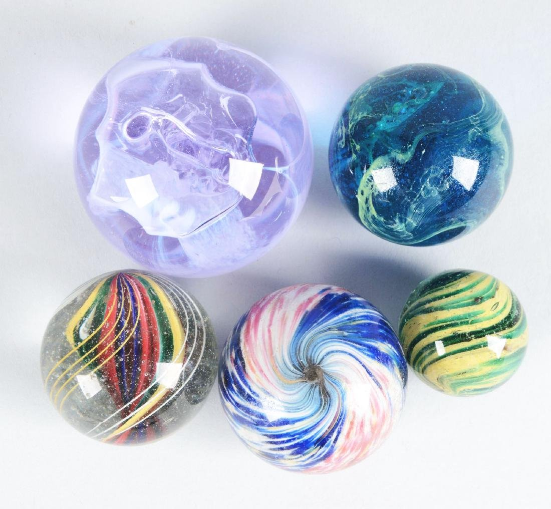 Lot Of 5:  Marbles.