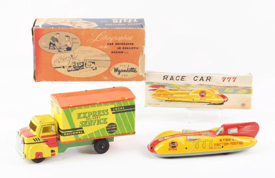 Lot of 2: Japanese & American Tin Litho Vehicle Toys. - 2