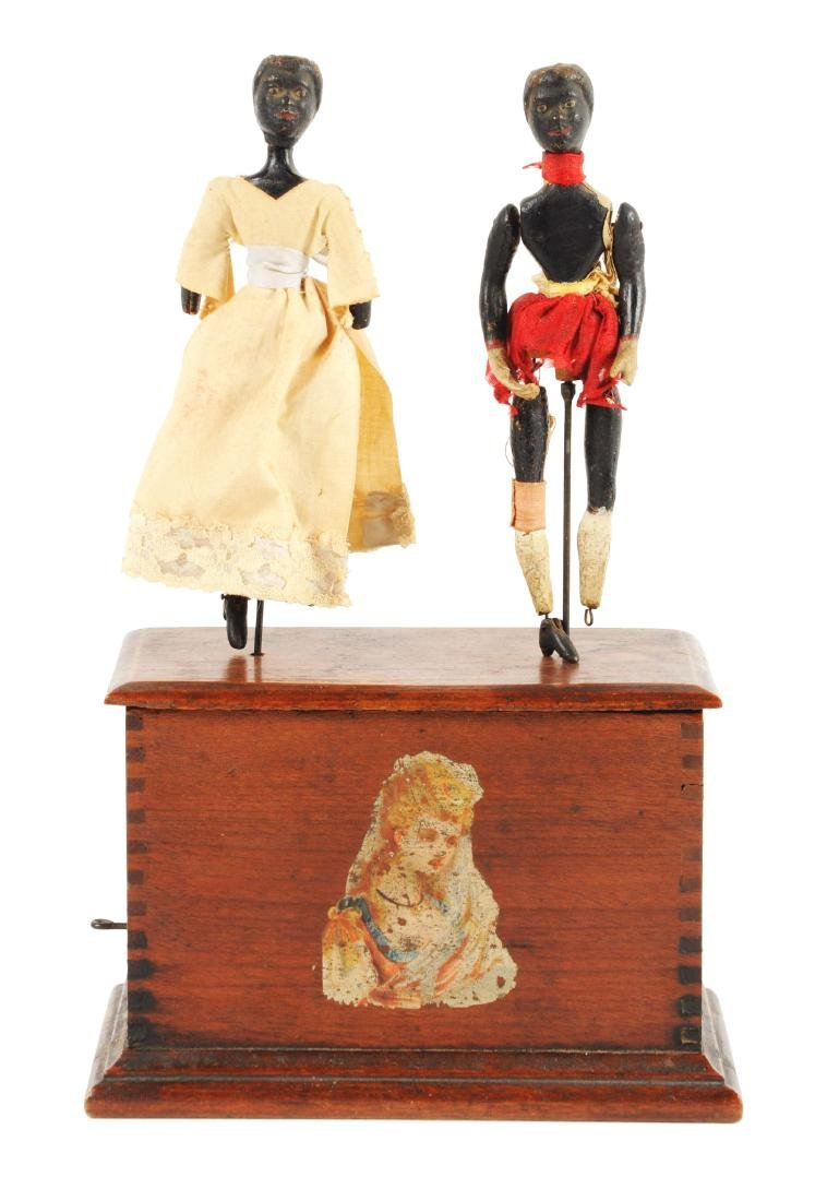 Early Ives Clockwork Dancers Toy.
