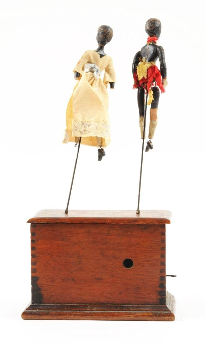 Early Ives Clockwork Dancers Toy. - 4