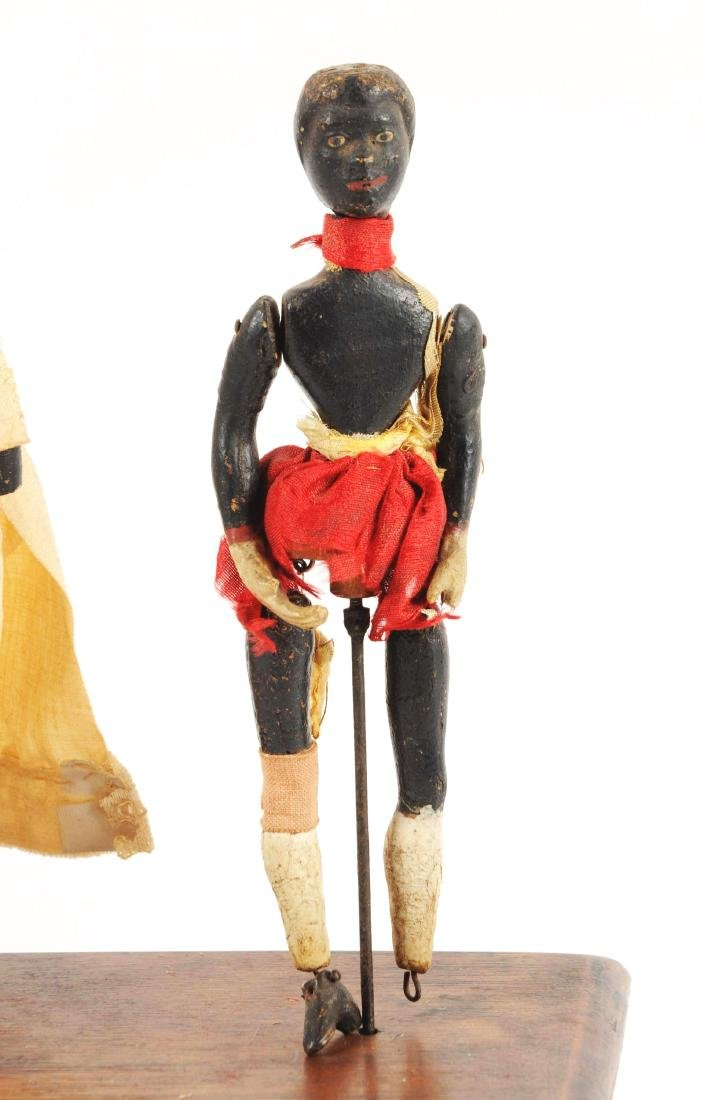 Early Ives Clockwork Dancers Toy. - 5
