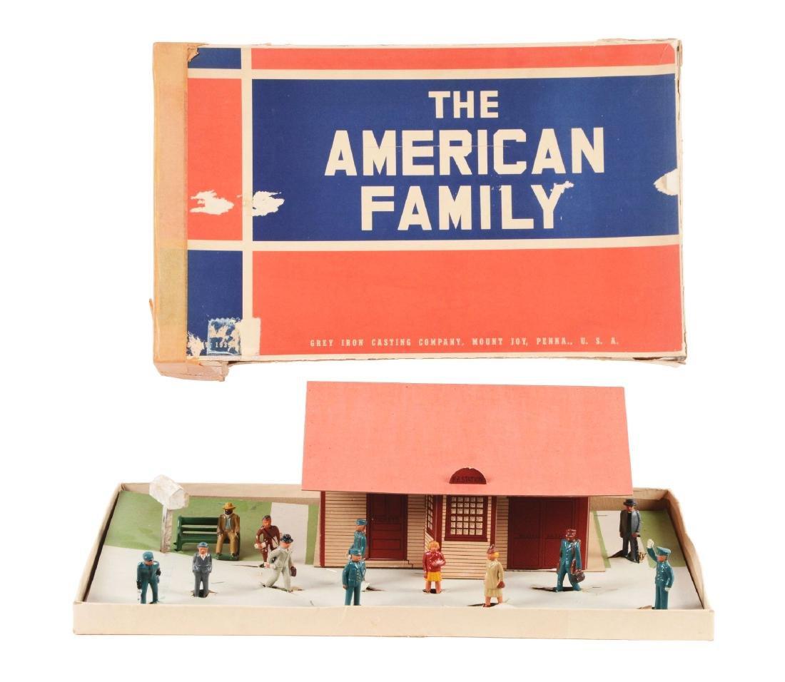 Rare Grey Iron Casting Company American Family Railroad