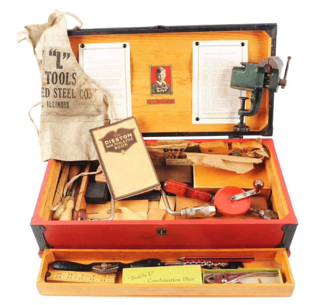 Wooden Buddy L Tool Chest.