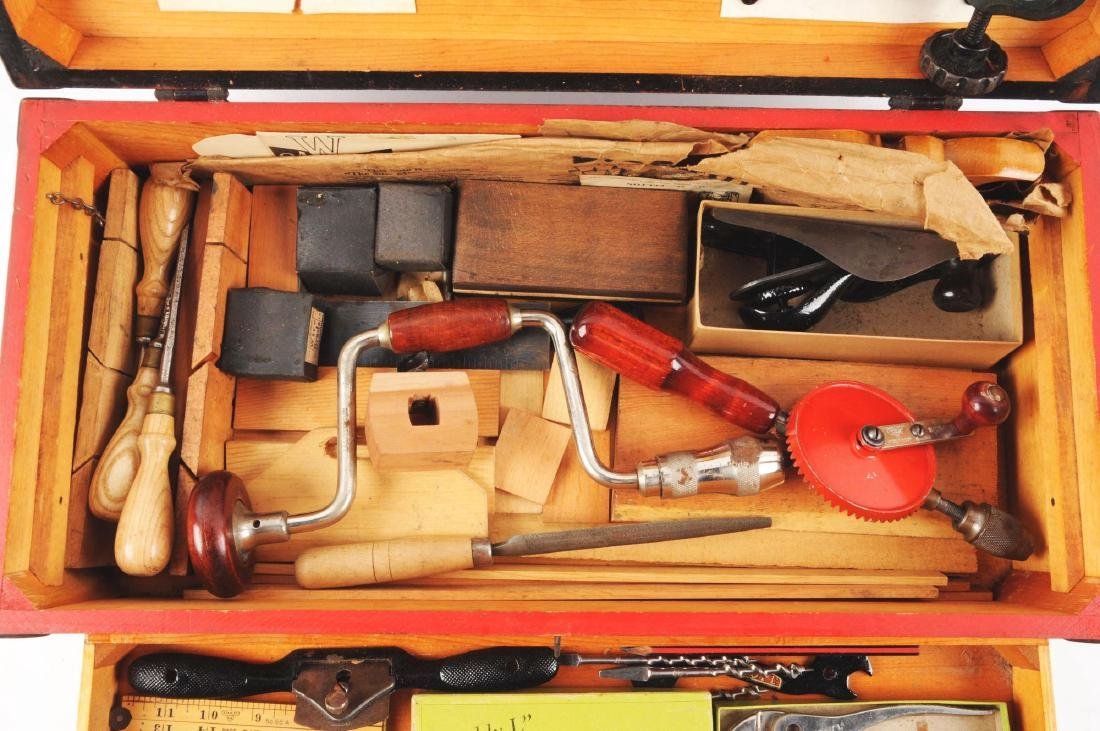 Wooden Buddy L Tool Chest. - 2
