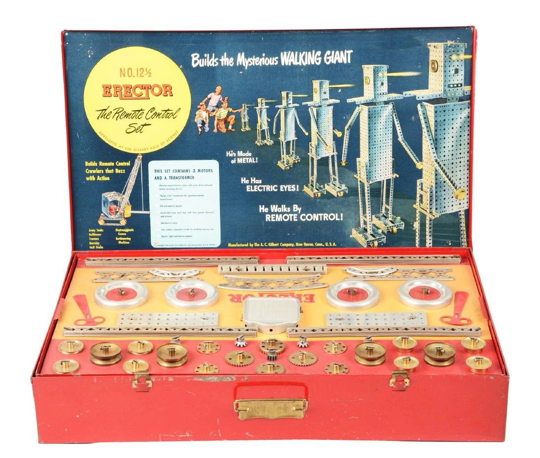 Scarce 1950 No. 12 - 1/2 Remote Control Erector Set.