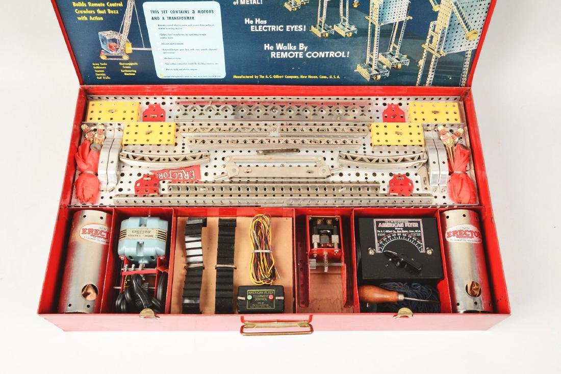 Scarce 1950 No. 12 - 1/2 Remote Control Erector Set. - 2