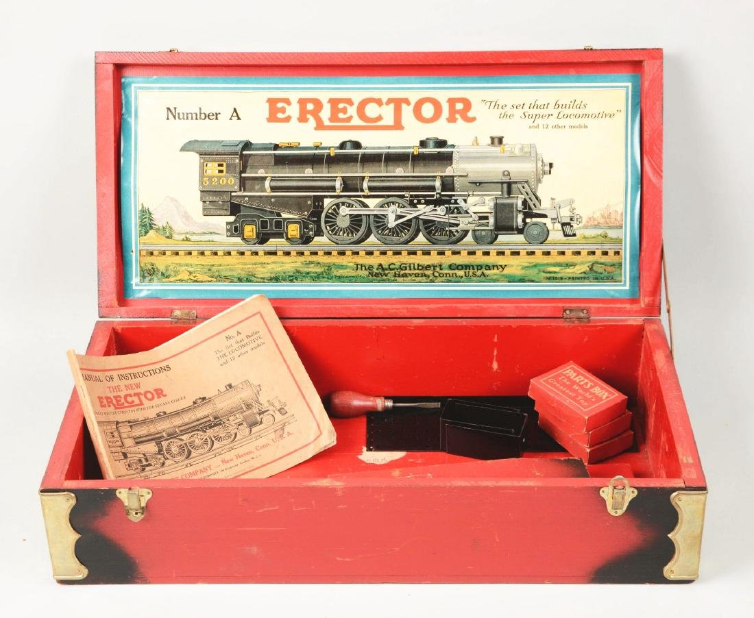 Scarce Erector No. A Hudson Train Locomotive. - 3