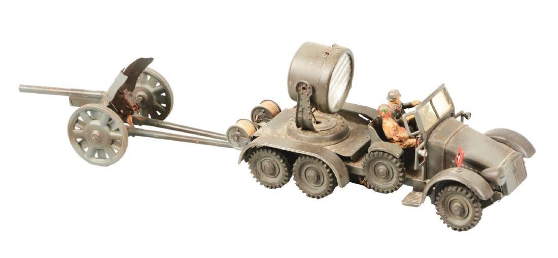 Pre-War German Hausser Clockwork Military Searchlight