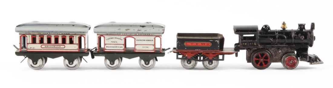 Early Ives Pre-War O-Gauge No. 1502 Passenger Train