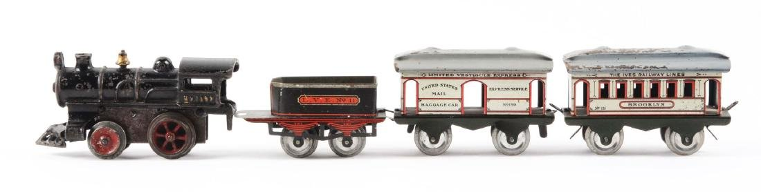Early Ives Pre-War O-Gauge No. 1502 Passenger Train - 2