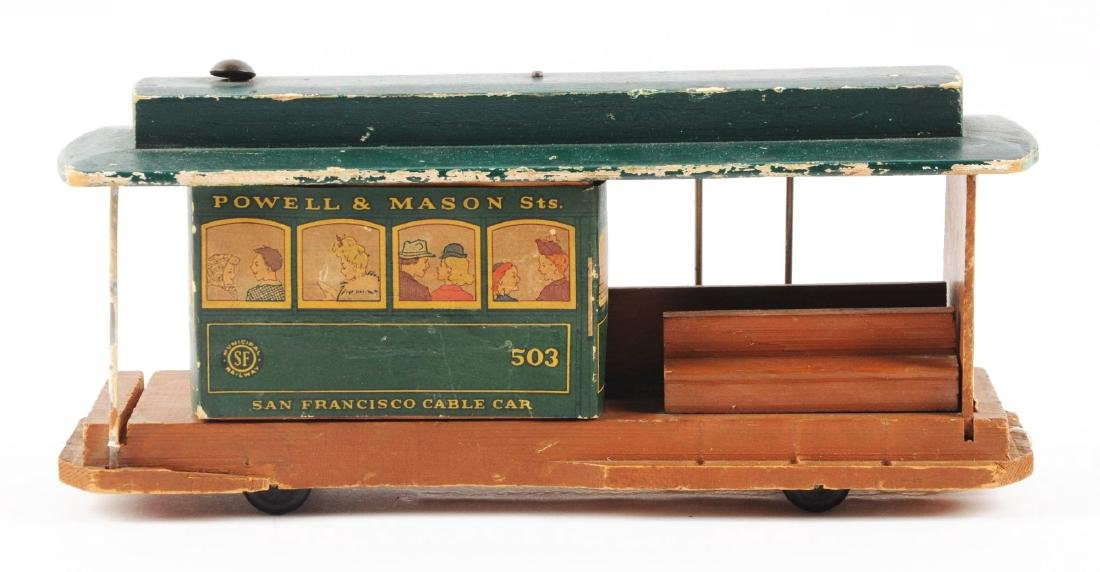 Unusual Early Paper on Wood San Francisco Cable Car