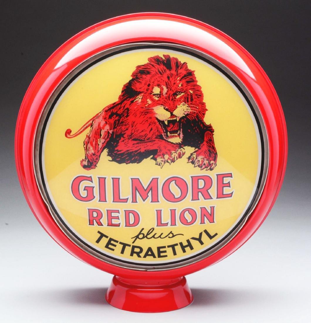 "Gilmore Red Lion plus Tetraethyl 15"" Single Globe Lens."
