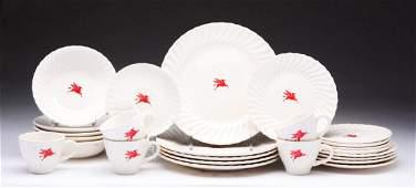 Mobil Oil Pegasus 25 Piece Dinnerware Set.