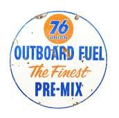 Union 76 Outboard Fuel Porcelain Sign