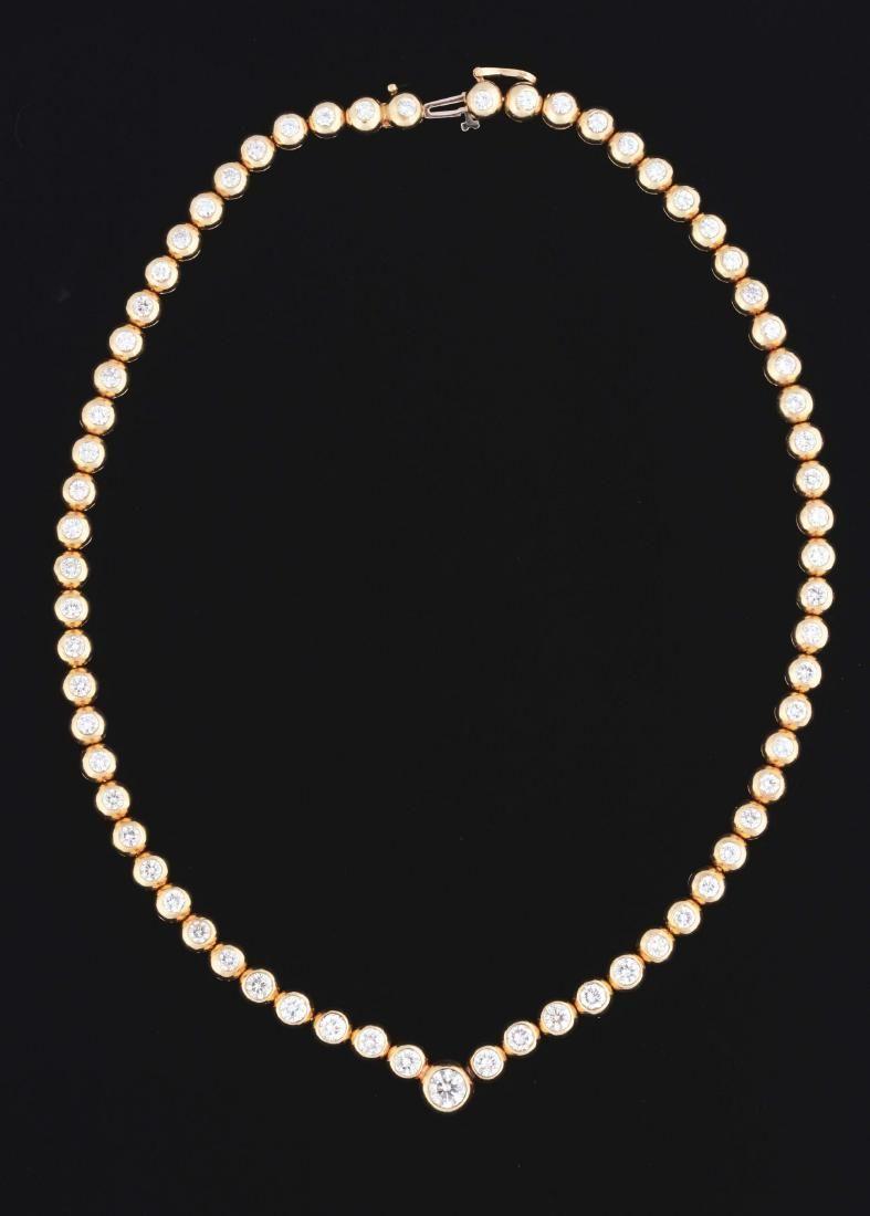 14K Yellow Gold & Diamond (15.50 Carats) Bezel Set