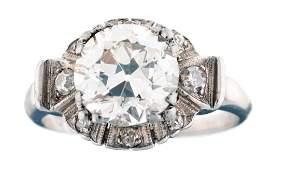 Platinum Diamond Engagement Ring Featuring 232 Carat