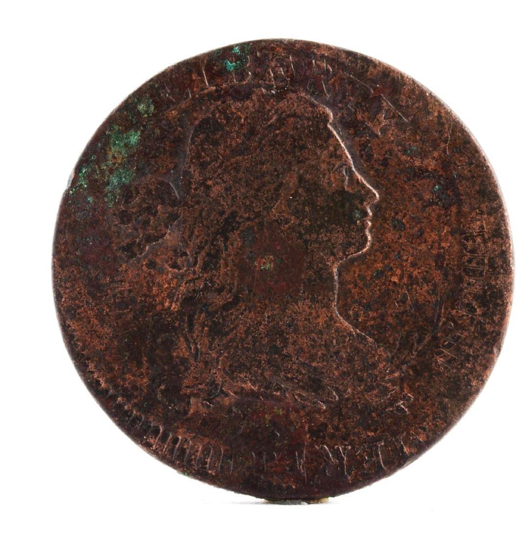 1797 Flip Over Triple Struck Large Cent.