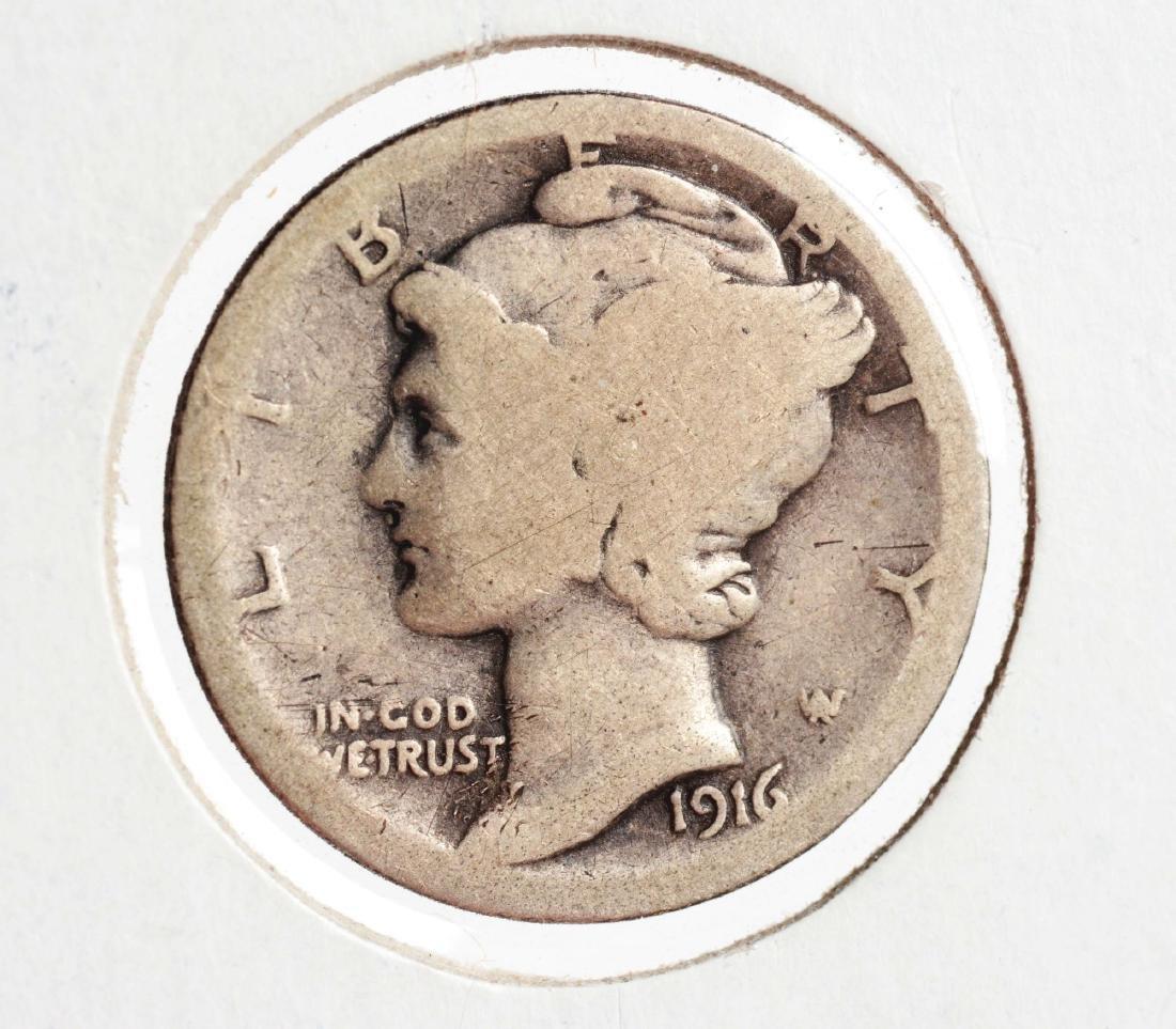 1916 D Mercury Head Dime.