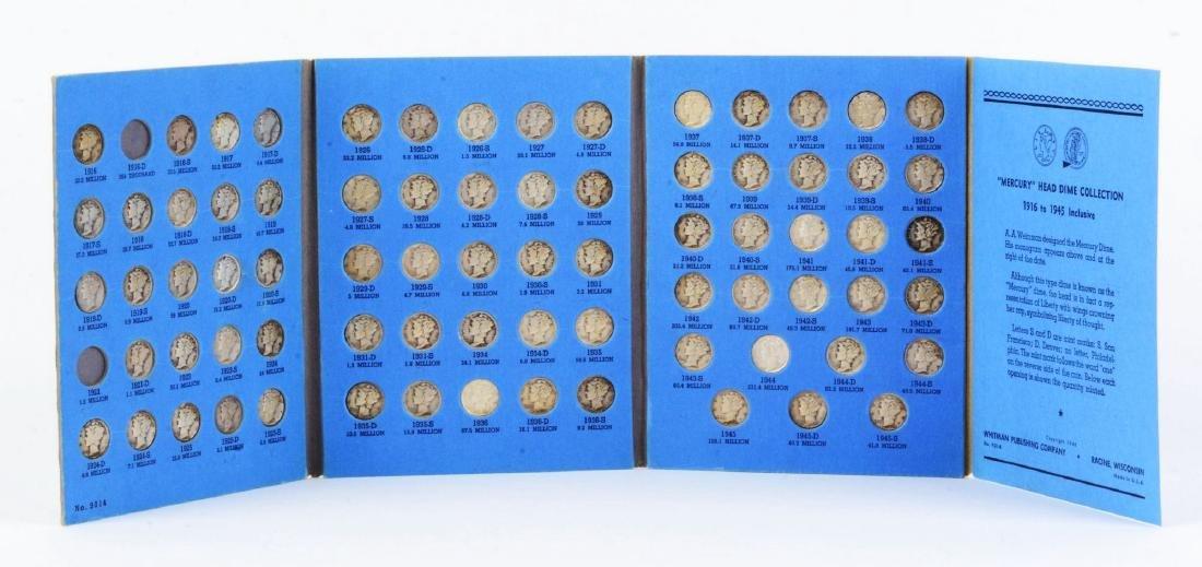 Mercury Head Dime Collection in Whitman Album.