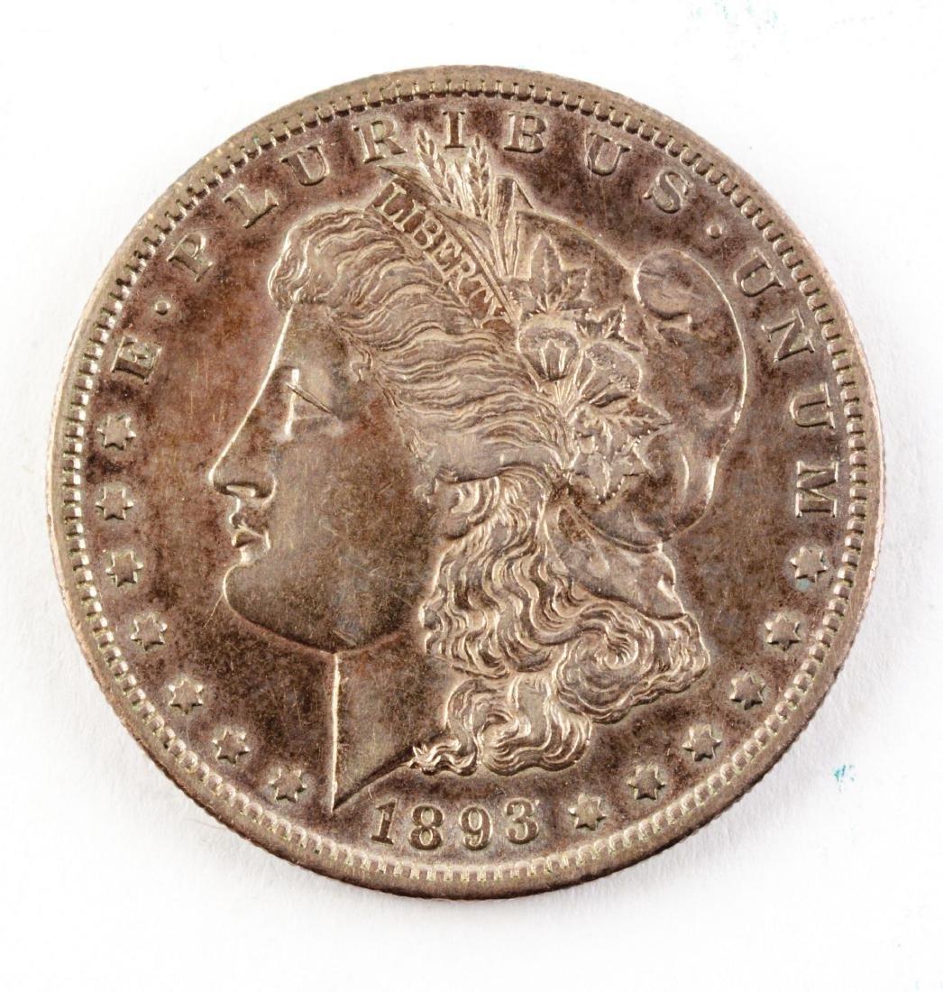 Rare 1893-S Morgan Silver Dollar.