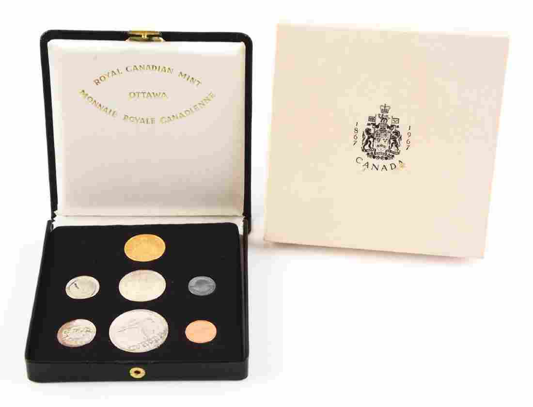 1967 Canadian Proof Set with $20 Gold Coin.