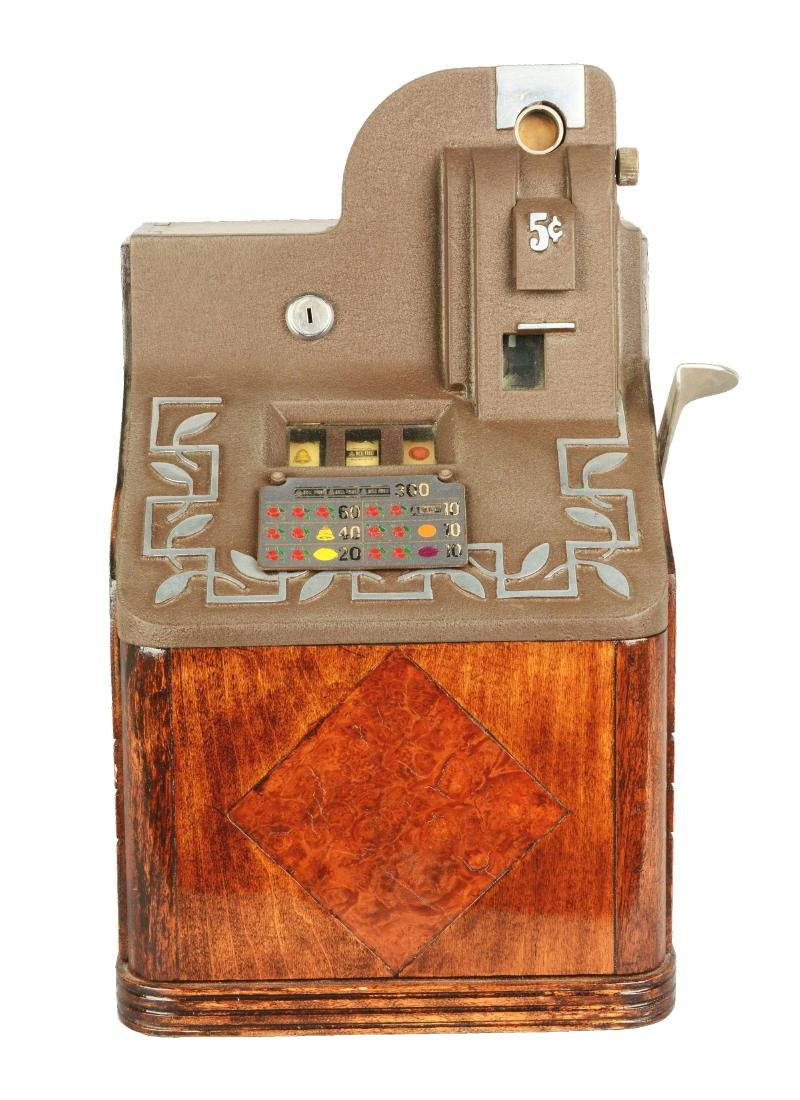 **5¢ Mills QT Smoker Slot Machine.