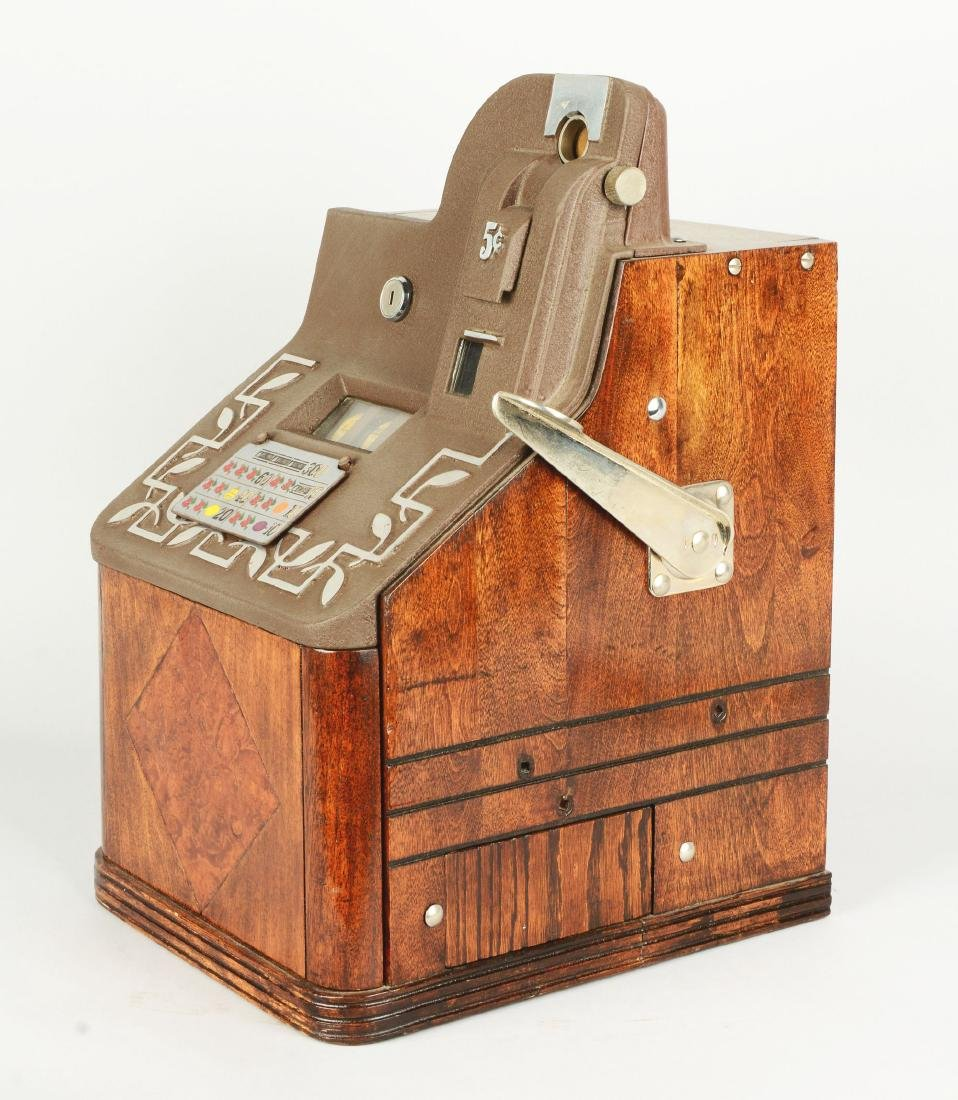 **5¢ Mills QT Smoker Slot Machine. - 2