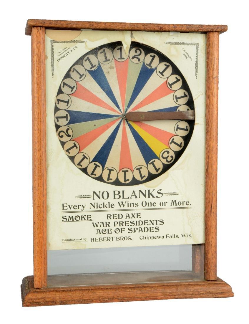 **5¢ Bennett & Co. No Blanks Cigar Trade Stimulator.