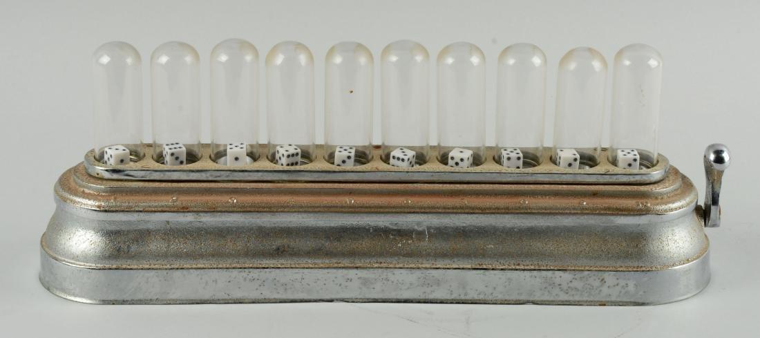 Cast Iron 10-Column Dice Popper. - 2