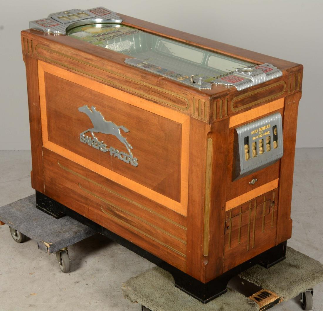 **5¢ Baker's Pacers Console Slot Machine. - 2