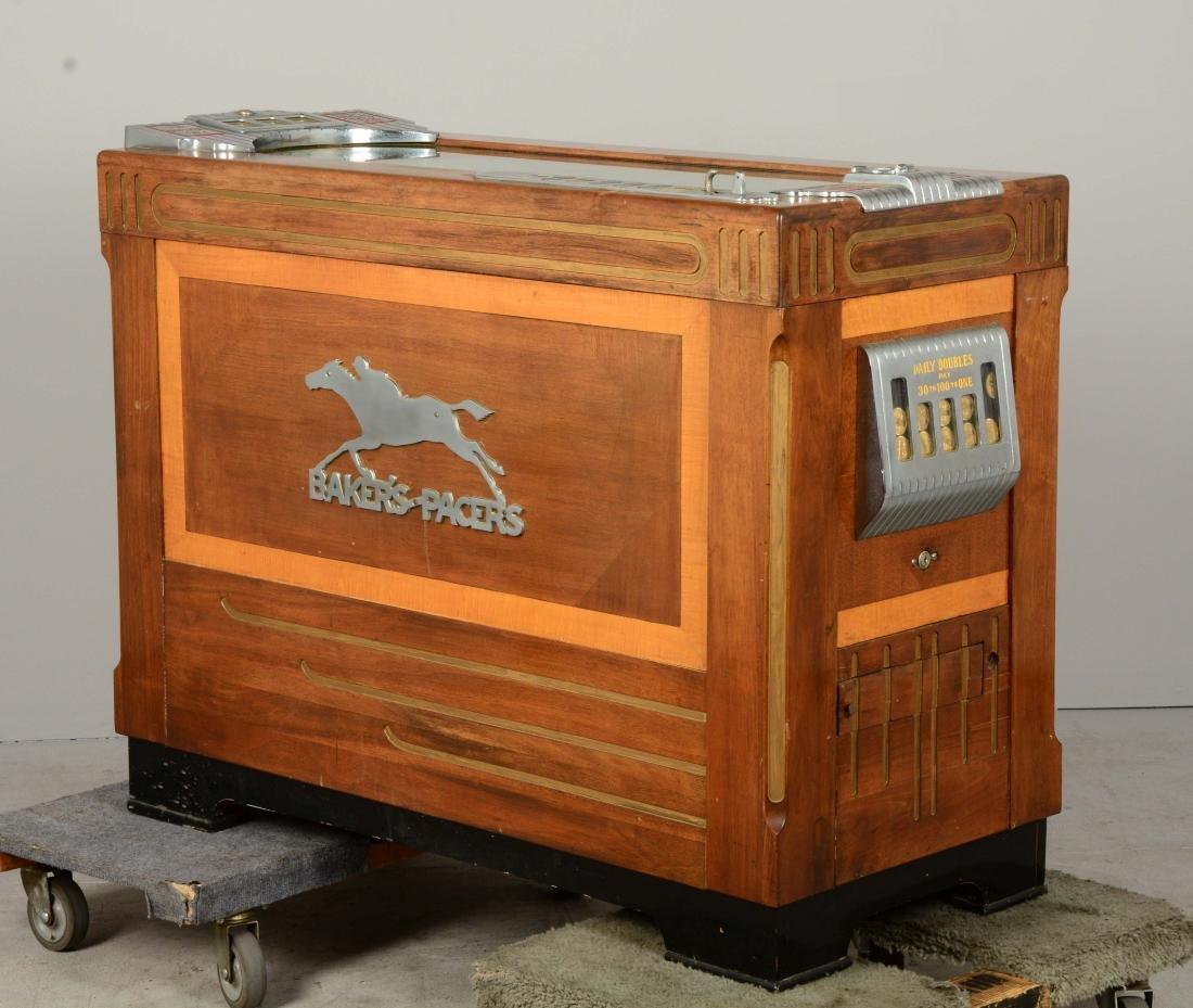 **5¢ Baker's Pacers Console Slot Machine. - 3