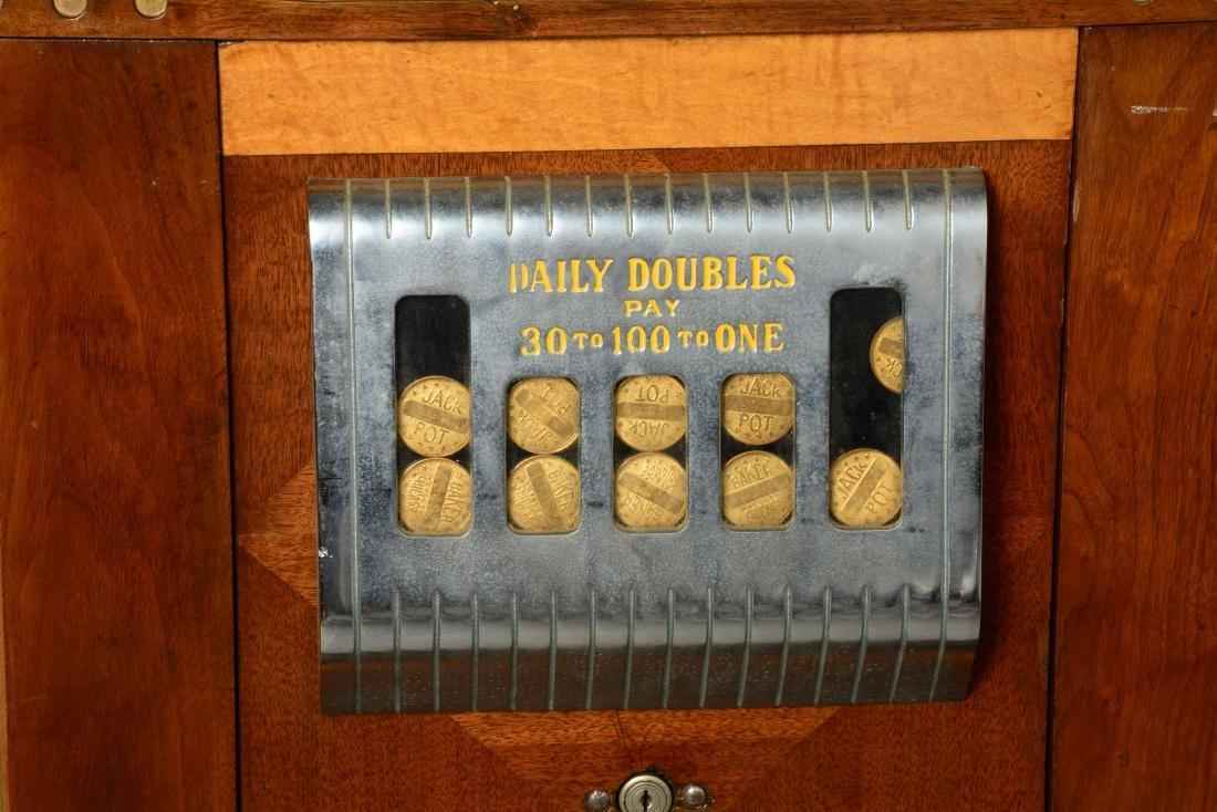 **5¢ Baker's Pacers Console Slot Machine. - 5