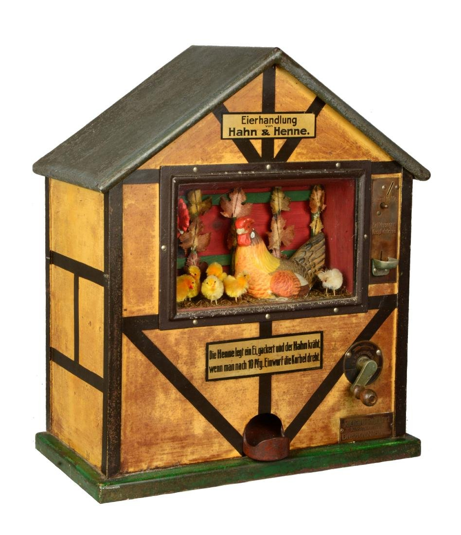 10Pf Reichert's Eierhandlung Han & Henne Vendor.