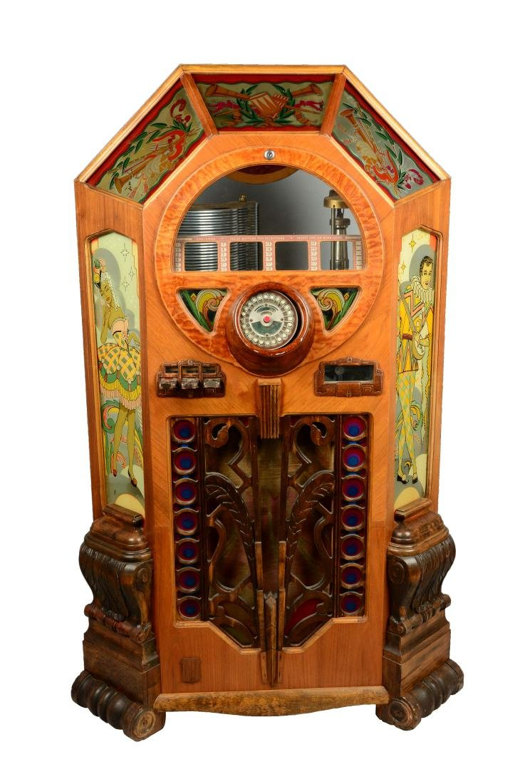 "Multi-Coin Wurlitzer ""Victory"" Jukebox."