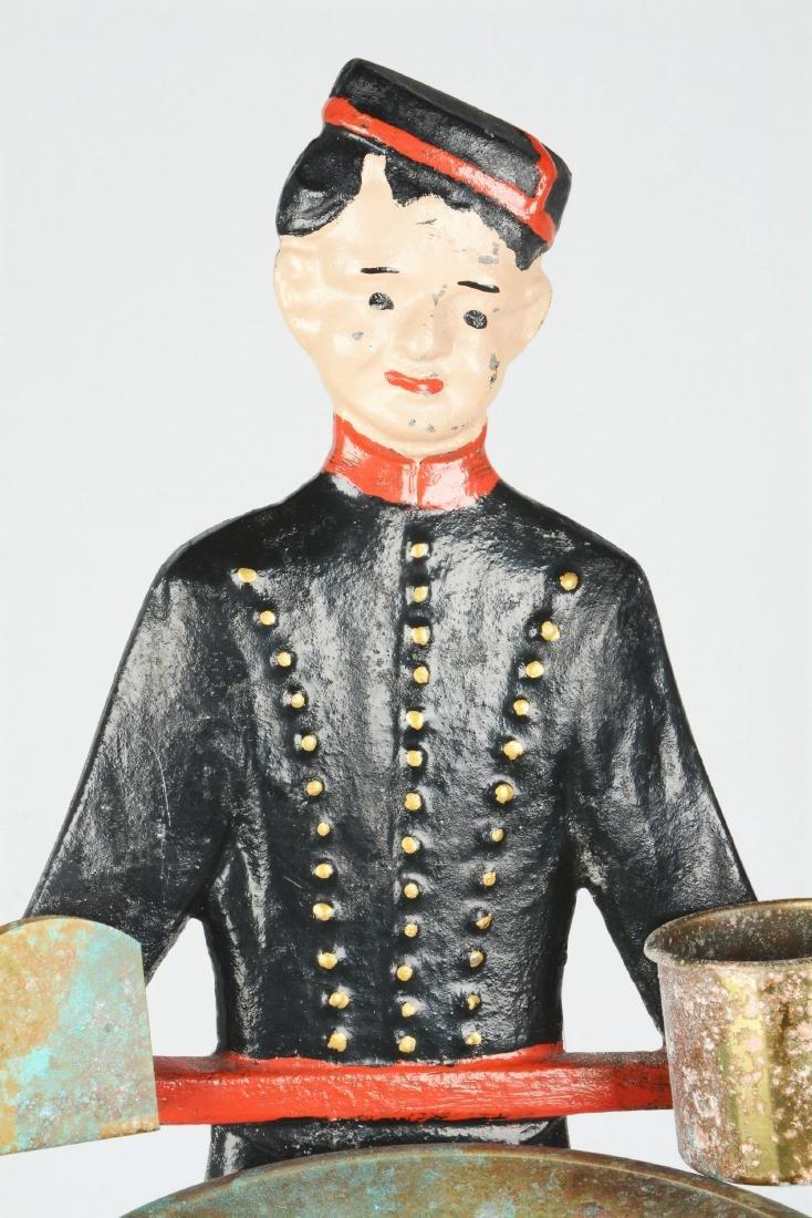 Figural Cast Iron Usher Smoking Stand. - 3