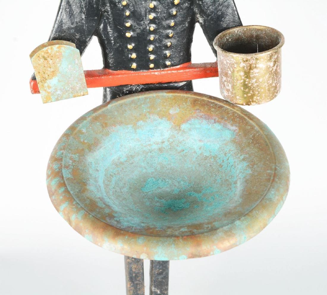 Figural Cast Iron Usher Smoking Stand. - 4