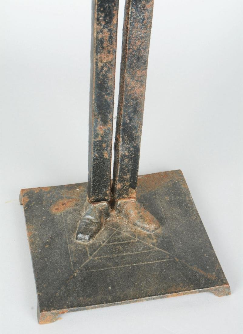 Figural Cast Iron Usher Smoking Stand. - 5
