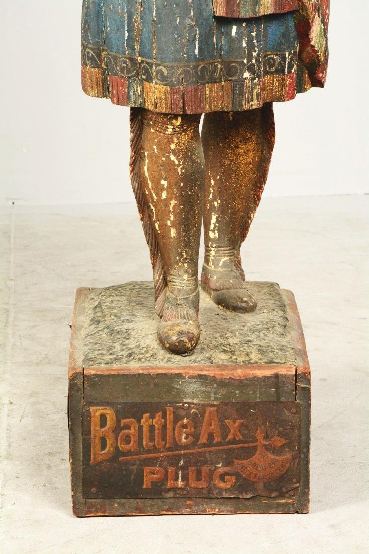 Battle Ax Cigar Store Indian Squaw Statue. - 5