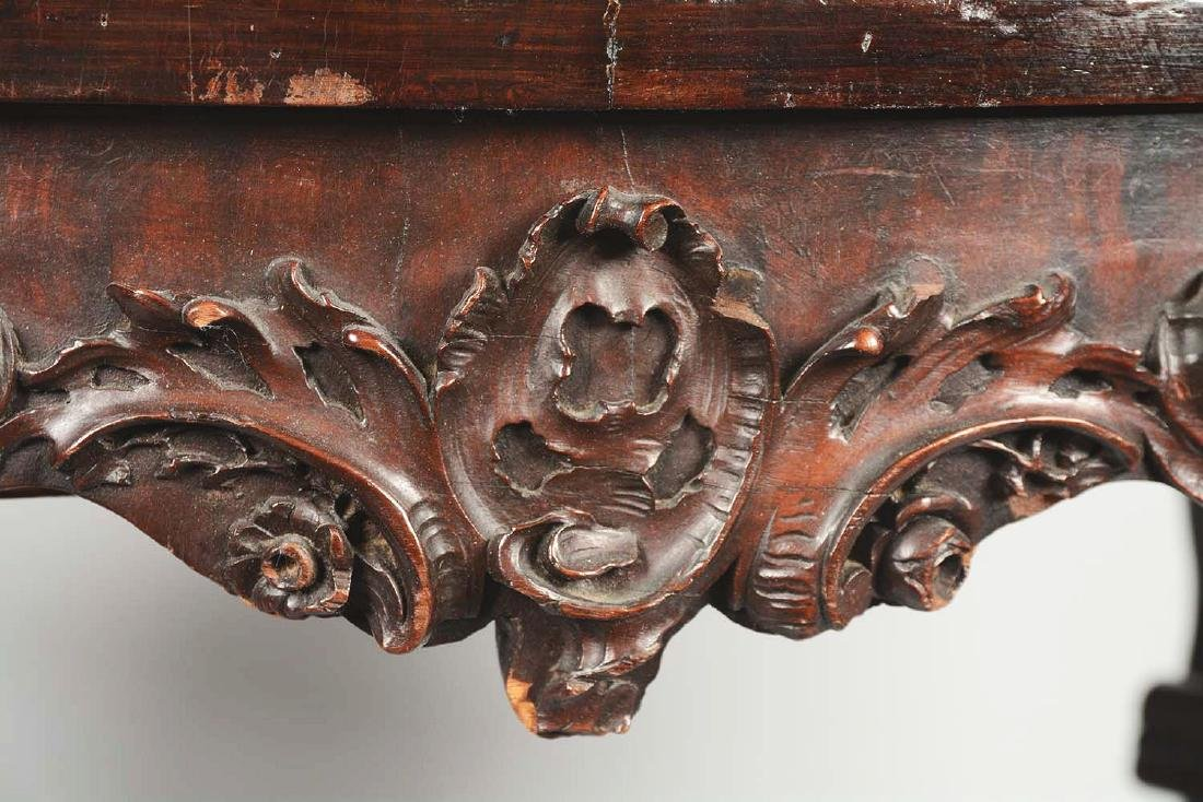 Heavily Carved Victorian Table. - 3