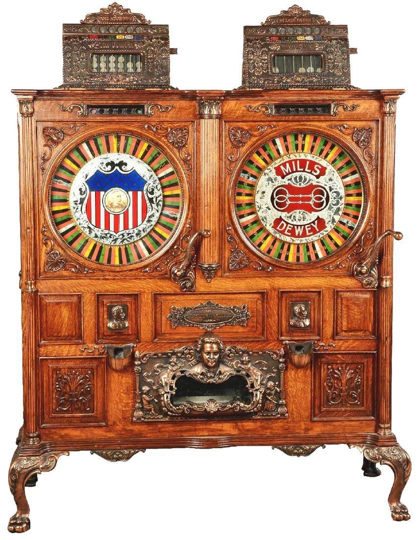 **5¢-25¢ Mills Double Dewey Two Bits Slot Machine.