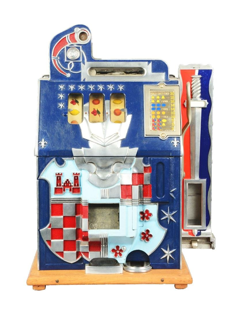 **5¢ Mills Novelty Co. Castle Front Slot Machine.