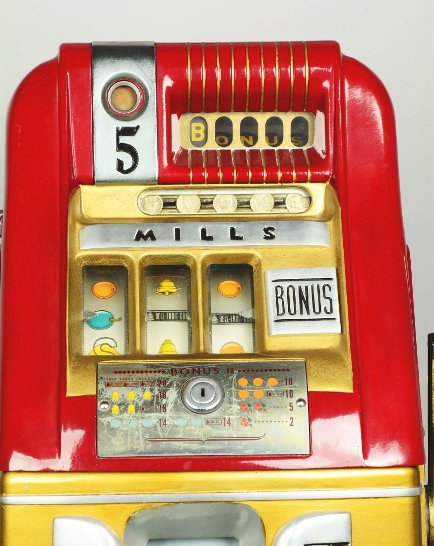 **5¢ Mills Bonus Bell Hi-Top Slot Machine. - 4