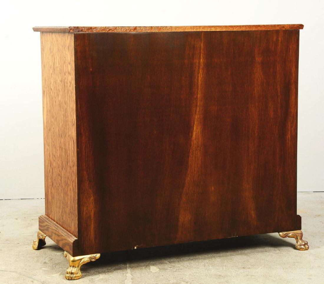 Glass Front Oak Double Slot Machine Stand. - 2