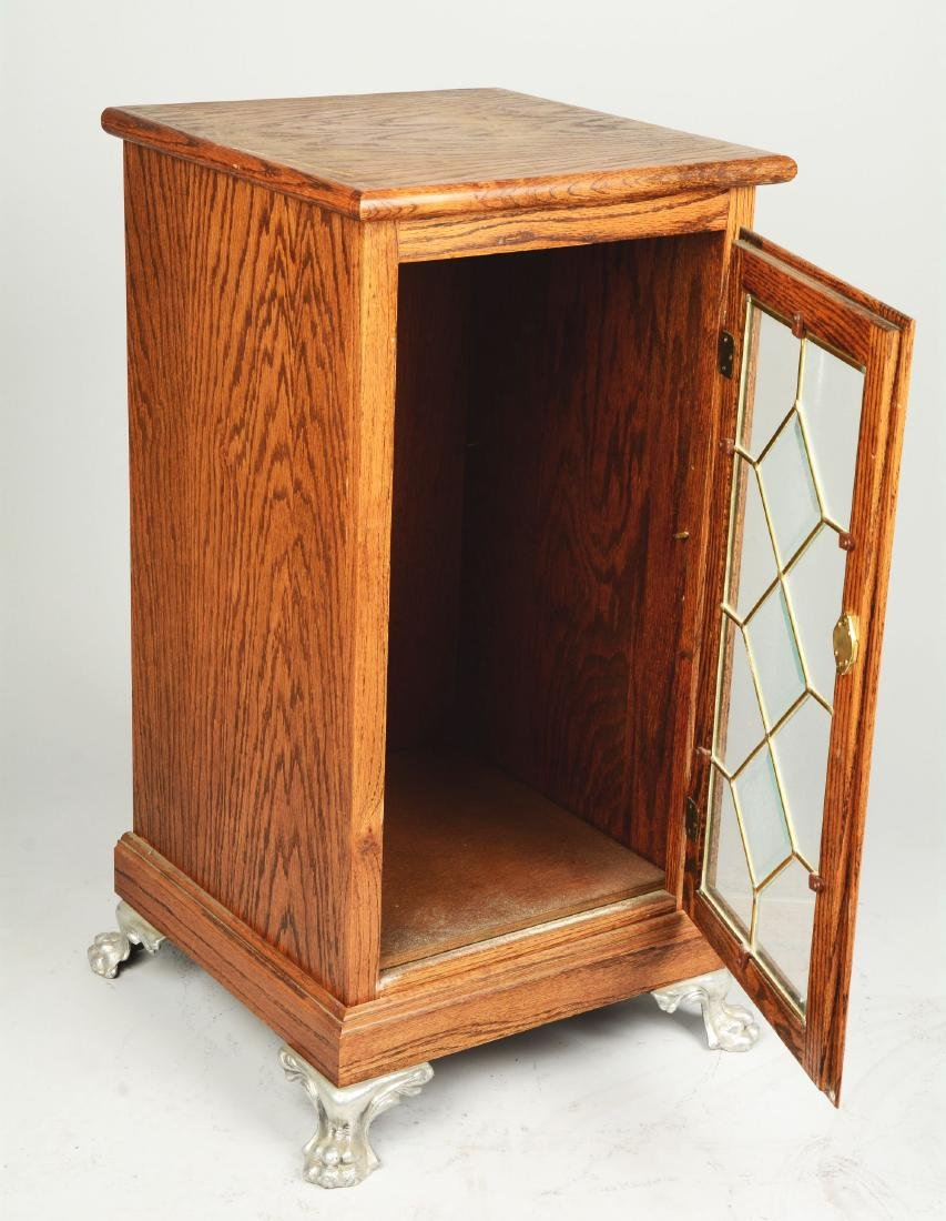 Oak Wood Slot Machine Stand. - 2