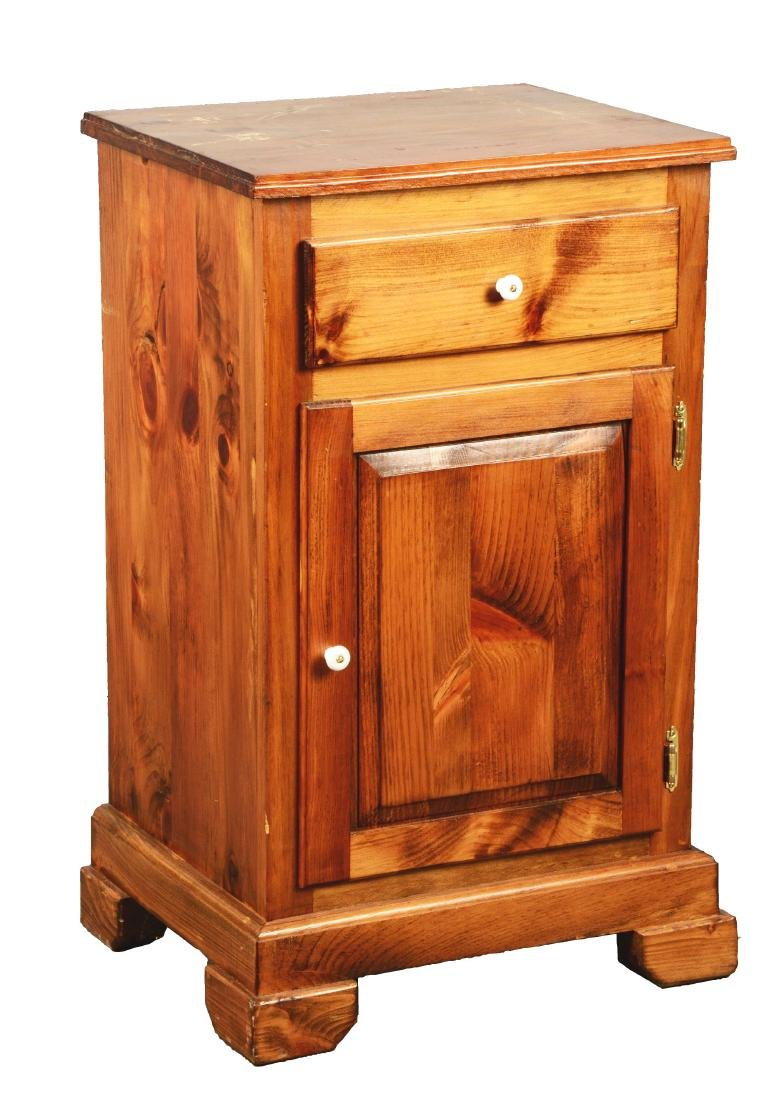 Oak Cabinet Slot Machine Stand.