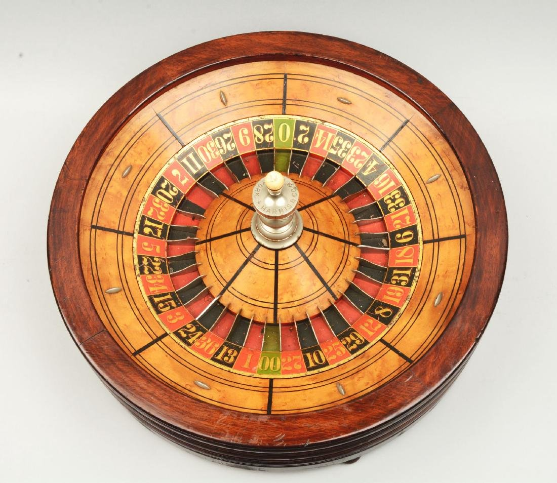 Table Top Mahogany Roulette Wheel. - 2